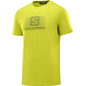 Salomon Coton Logo t-shirt Heren geel